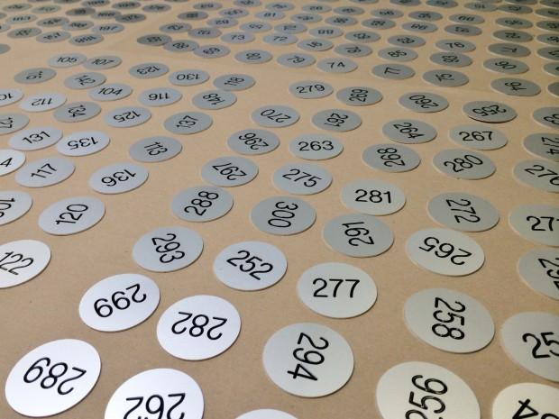 Aluminium lockernummers