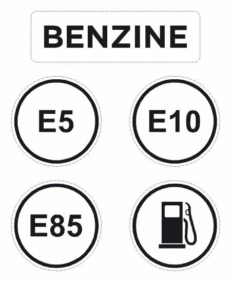 Brandstof pictogram sticker Benzine