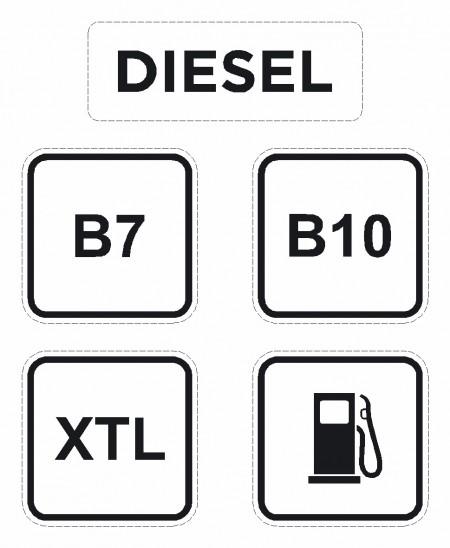 Brandstof pictogram sticker Diesel