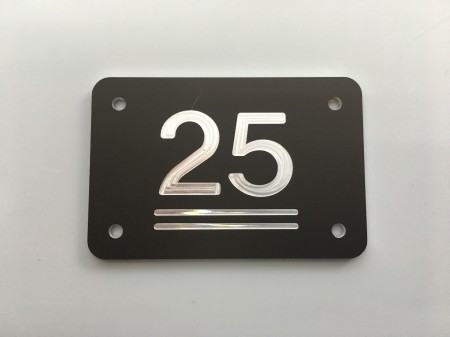 Garderobenummers zwart aluminium