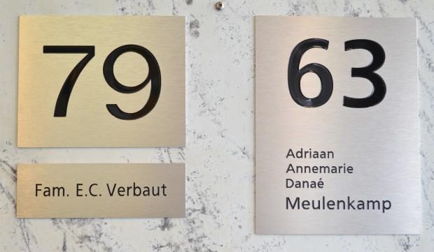Huisnummers aluminium