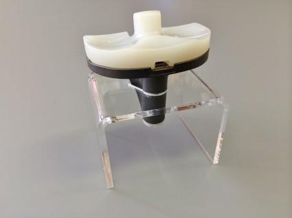 Perspex display knieprothese