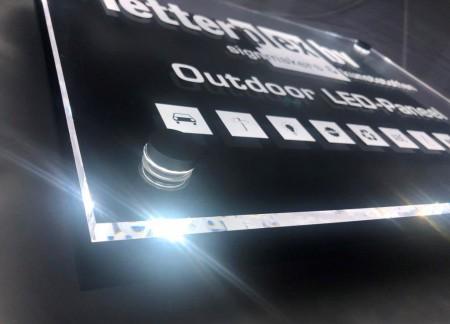LED verlicht naambord bedrijfsbord