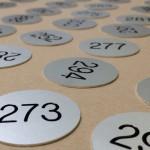 Nummerplaat aluminium