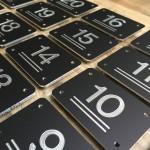 Nummerplaat zwart metaal
