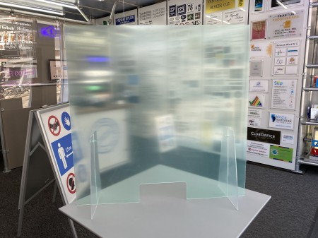 Plexiglas spatscherm corona staand