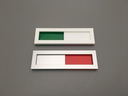 schuifbordje groen rood zonder tekst